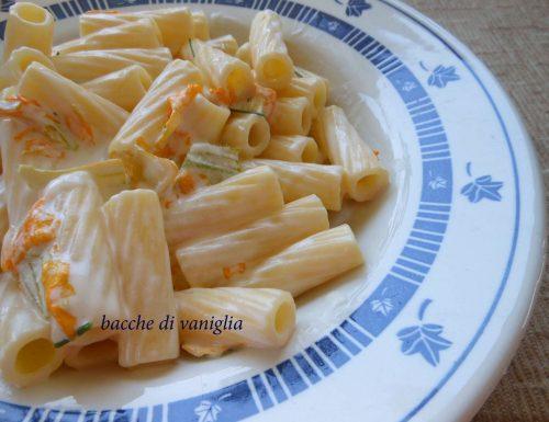 Pasta con fiori di zucca e robiola (senza glutine)