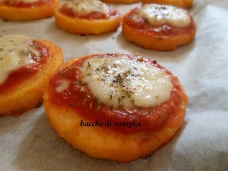pizzette di polenta senza glutine