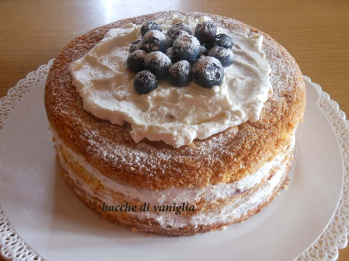 Naked cake ai mirtilli senza glutine