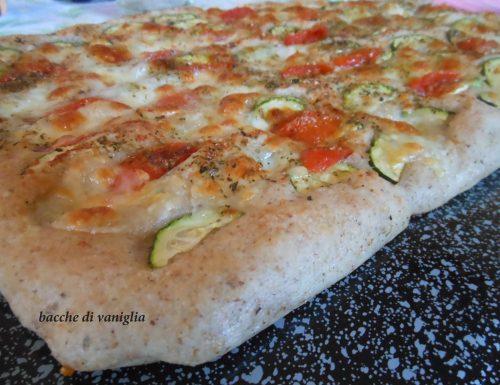 Focaccia integrale vegetariana senza glutine